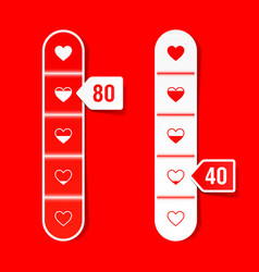 love meter happy valentines day celebration vector image vector image