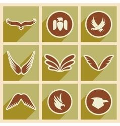 Stylish assembly eagle logo vector
