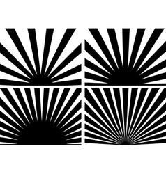 Sunrays vector image vector image