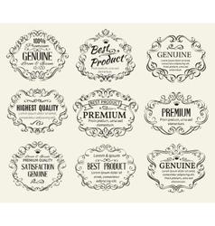 Calligraphic Design Elements Frame vector image