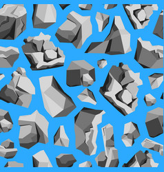 cartoon rocks and stones background pattern on a vector image vector image