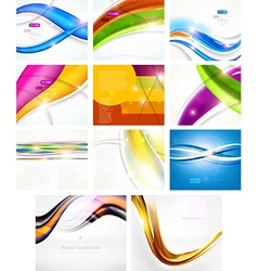 Futuristic Background Set vector image vector image
