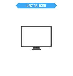 monitor flat icon vector image