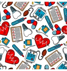 Seamless pattern of medical icons vector image vector image