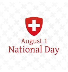 Swiss National Day poster vector image vector image