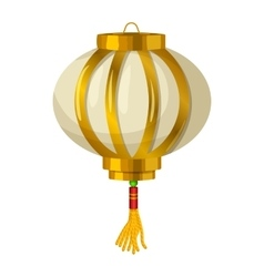Chinese paper lantern icon in cartoon style vector image vector image
