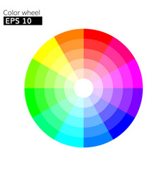 color wheel 12 colors with 20 percent step vector image