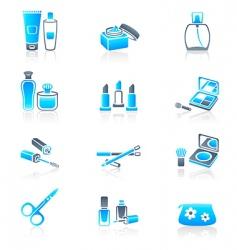 cosmetics icons marine series vector image vector image