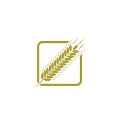 Ear of wheat farm logo bread concept sign vector image
