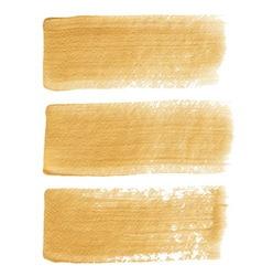 Gold acrylic brush strokes vector image vector image