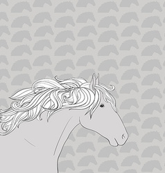 HorseHead10 vector image vector image