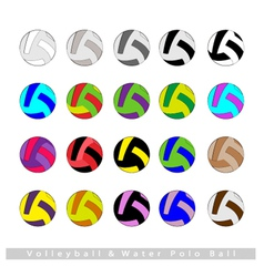Set of Volleyball Balls or Water Polo vector image vector image
