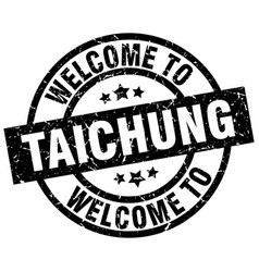 welcome to taichung black stamp vector image