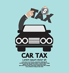 Car Tax Concept vector image