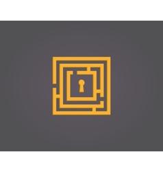 Colorful abstract maze logo vector image