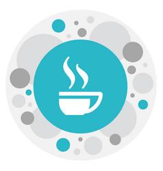 of cook symbol on tea mug icon vector image