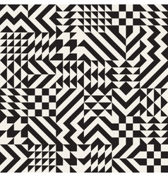 Seamless Black and White Irregular vector image vector image
