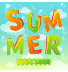 Summer time vector image vector image
