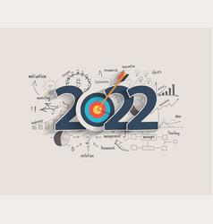 2022 new year target audience concept creative vector