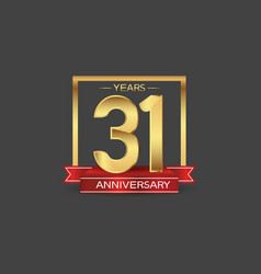 31 years anniversary logo style with golden vector