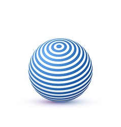 3d Sphere with Texture Ball isolated on white vector