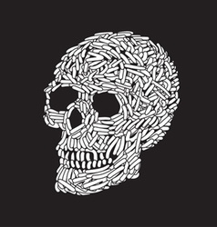 Abstract Skull vector image