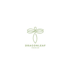 Animal insect dragonflies line art outline vector