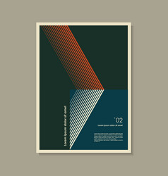 artwork inspired postmodern abstract vector image