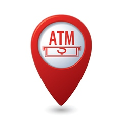atm RED pointer vector image