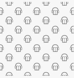 Audiobook minimal pattern vector