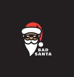 bad santa logo vector image
