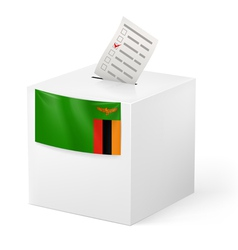 Ballot box with voting paper Zambia vector