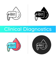 Blood group test icon vector