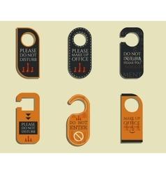 Business management consulting Door knob or hanger vector