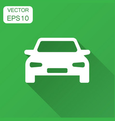 Car icon in flat style automobile vehicle with vector