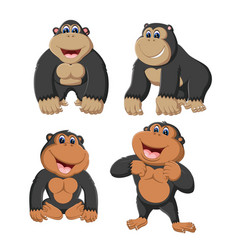 Collection of the gorilla vector