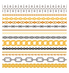 Colorful chains collection vector