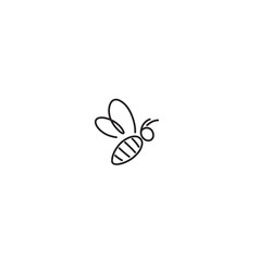 Creative bee insect abstract logo vector