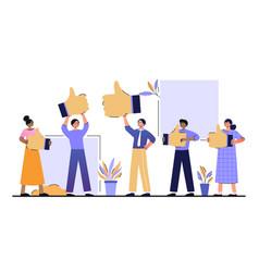 Customer reviews rating concept vector