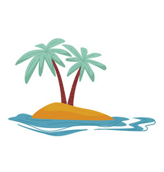 desert island isolated icon traveling and summer vector image