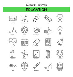 education line icon set - 25 dashed outline style vector image