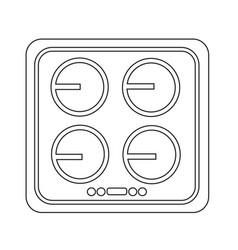 Electronic hob icon design vector