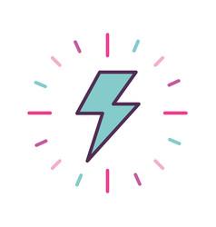 Fantasy thunder ray icon vector