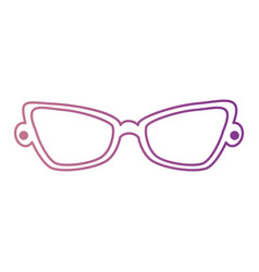 fashion eyeglasses isolated icon vector image