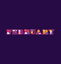february concept word art vector image