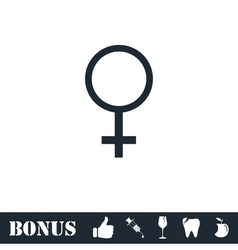 Female icon flat vector