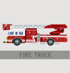 Fire dept truck vector