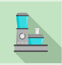 Food processor icon flat style vector