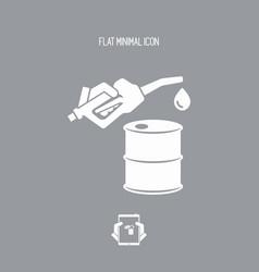 Fuel barrel flat icon vector