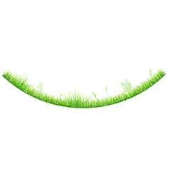 Green grass in shape an arc vector